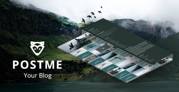 Opossum PostMe Simple WordPress Blogging Theme + RTL