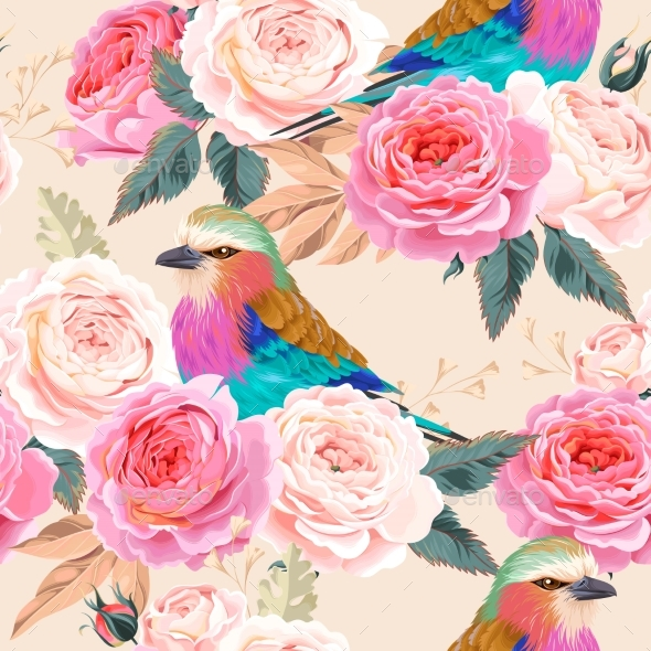 Seamless Vintage Roses - Patterns Decorative
