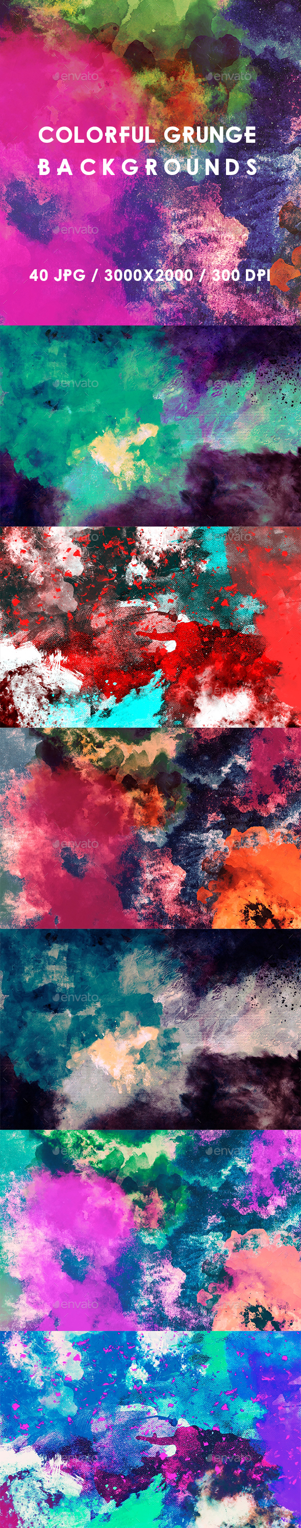 40 Colorful Grunge Backgrounds - Abstract Backgrounds