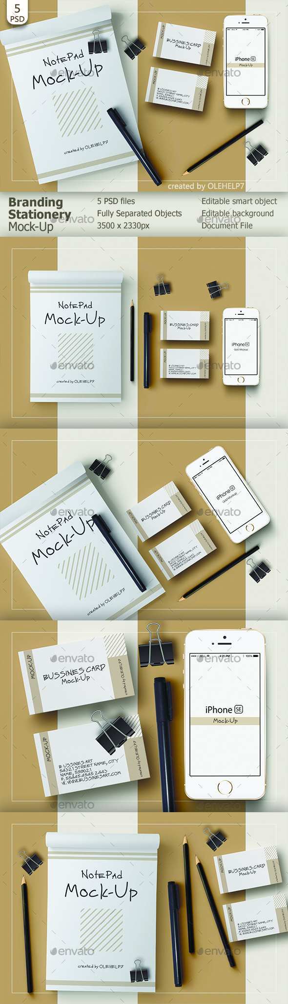 Branding Stationery Mock-Up - Stationery Print