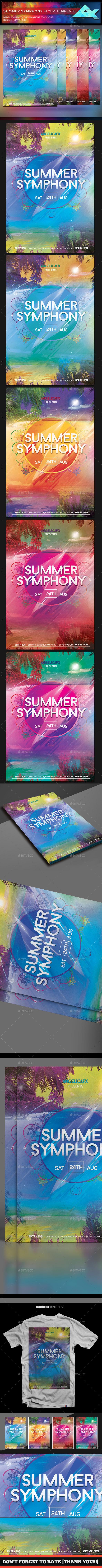 Summer Symphony Flyer Template - Flyers Print Templates