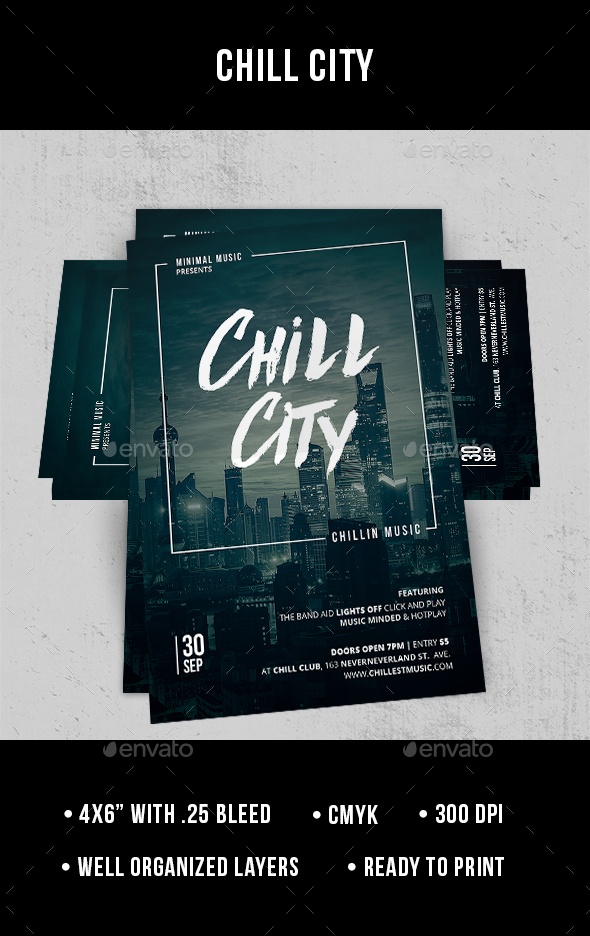 Chill City - Flyer - Clubs & Parties Events