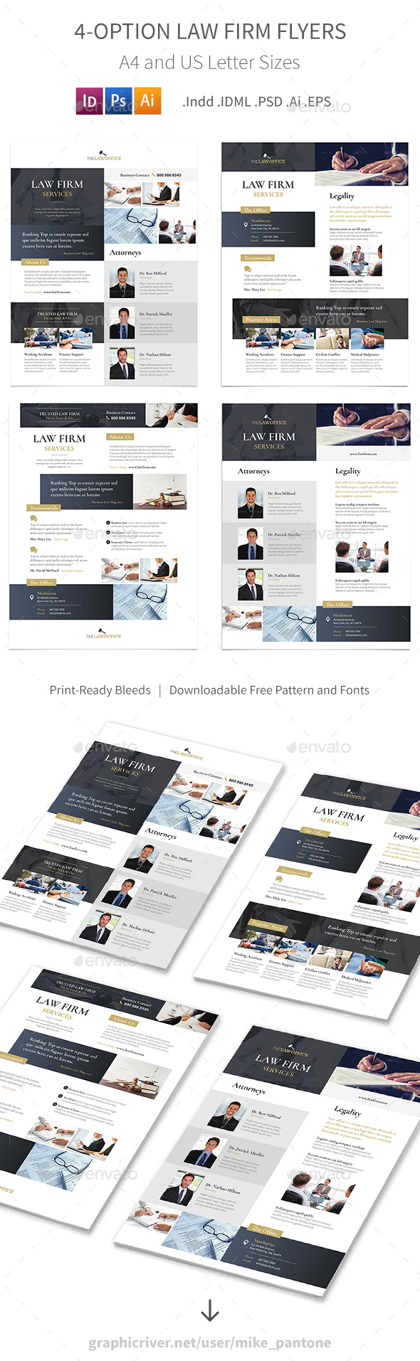 Law Firm Flyers – 4 Options - Corporate Flyers