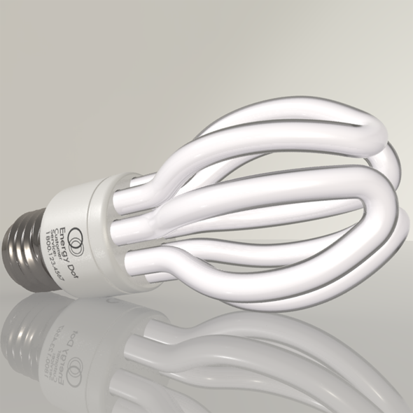 Energy Saving Light Bulb 02 - 3DOcean Item for Sale
