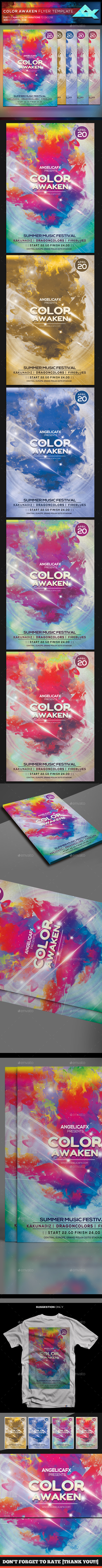 Color Awaken Flyer Template - Flyers Print Templates