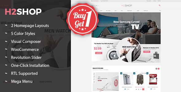 H2shop – Premium Multipurpose WooCommerce WordPress Theme