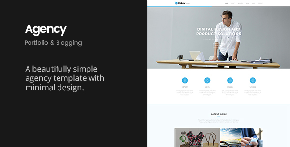 Deliver Agency | Minimalist Portfolio & Blogging Template - Creative Site Templates