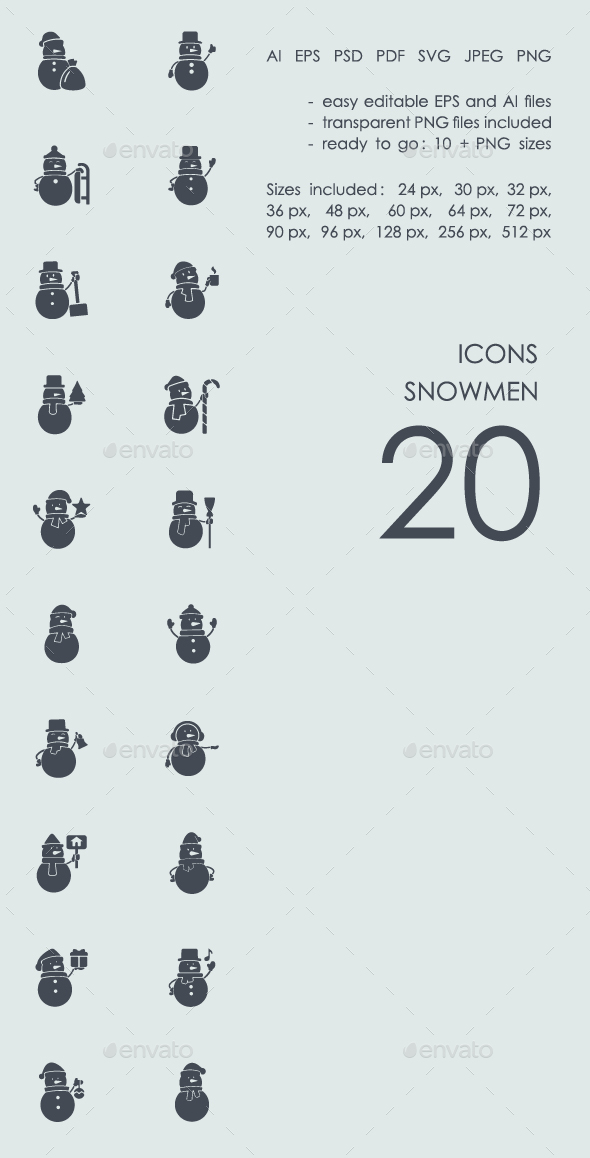 Snowmen icons - Icons