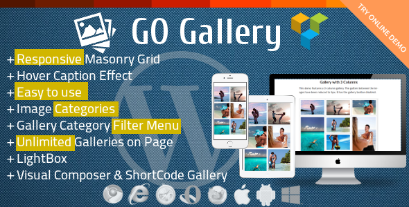 GoGallery - Filterable Responsive Gallery for Visual Composer - CodeCanyon Item for Sale