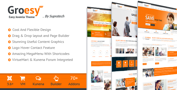 Groesy – Responsive Multi-Purpose Joomla Template