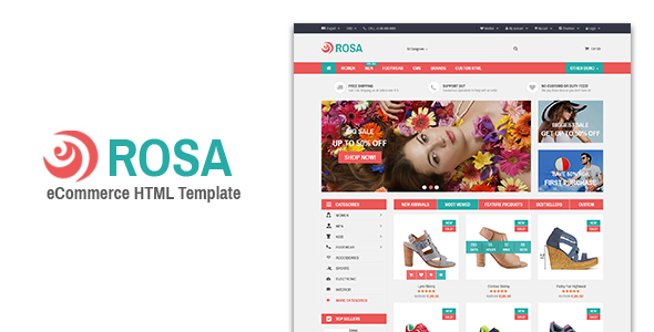 Rosa – Responsive eCommerce Template