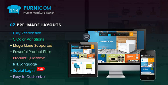 Furnicom - Responsive Multipurpose OpenCart 2.3 and 2.2 Theme