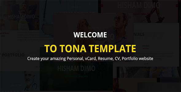TONA – Personal vCard Resume HTML Template