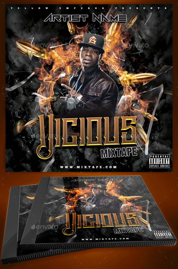 Mixtape Covers | Mixtape Cover Designs | PSD Templates - CD & DVD Artwork Print Templates