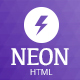 Neon Responsive App Landing Page - ThemeForest Item for Sale