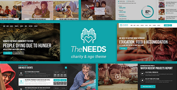 The Needs – Nonprofit, Charity, Crowdfunding WordPress Theme
