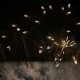 Rain of Fireworks in the Sky