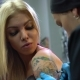 Sexy Blonde and Tattoo Master Drawing Tiger - VideoHive Item for Sale
