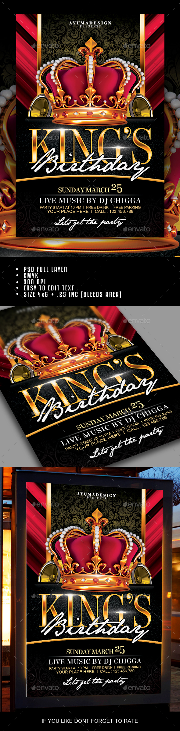 Kings Birthday Flyer - Clubs & Parties Events