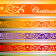 set of christmas ribbons - GraphicRiver Item for Sale