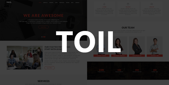 Toil – One Page MultiPurpose Template