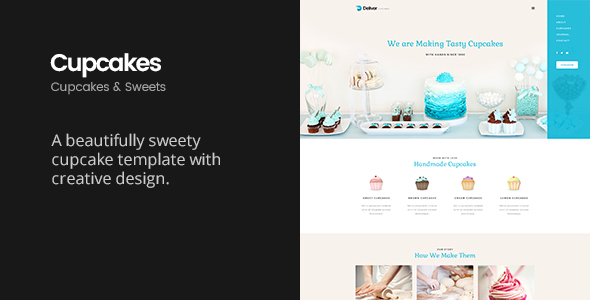 Deliver Cupcake | Sweets & Cupcakes HTML Template - Food Retail