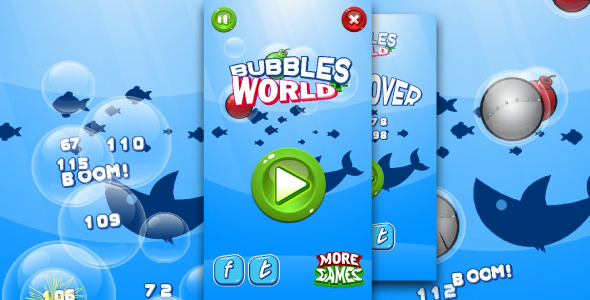 Bubbles world - HTML5 fun game + Mobile control + AdMob - CodeCanyon Item for Sale