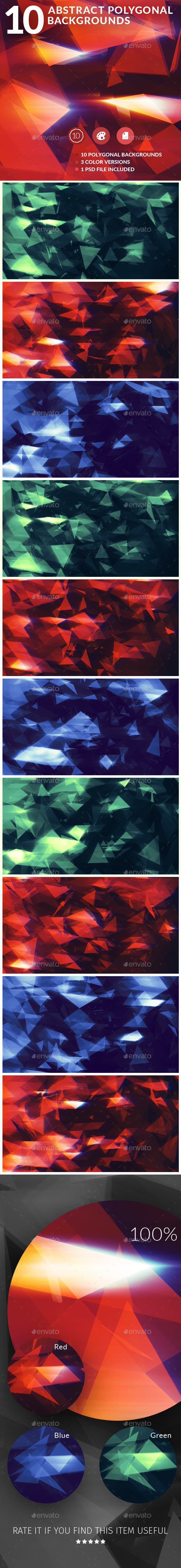 10 Abstract Polygonal Backgrounds - Abstract Backgrounds