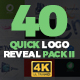 Quick Logo Reveal Pack 2 - VideoHive Item for Sale