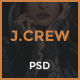 Jcrew - Multipurpose Ecommerce PSD template - ThemeForest Item for Sale