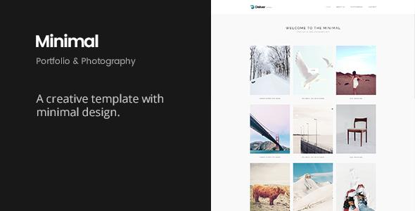 Deliver Minimal | Minimal Portfolio Template - Portfolio Creative