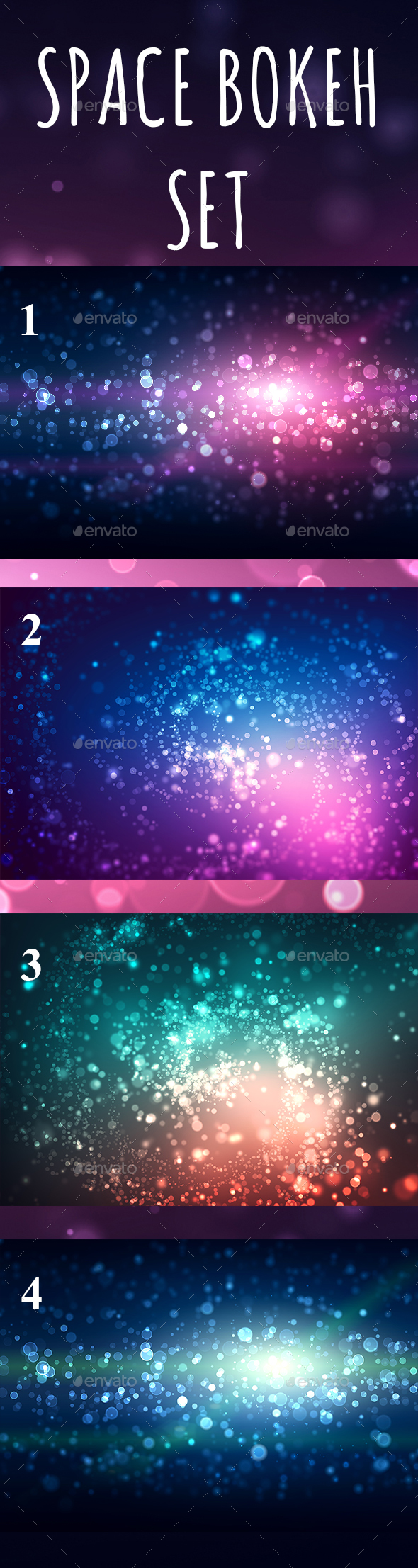 Space Bokeh Light Set - Abstract Backgrounds