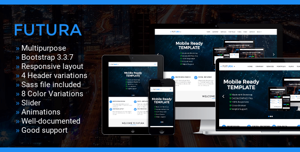 Futura – Multipurpose One Page Bootstrap Template