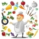 Illustration of Friendly Chief Cook, Food Design - GraphicRiver Item for Sale