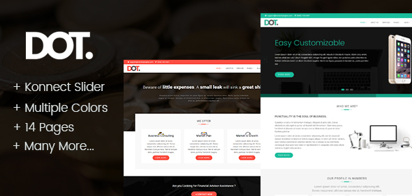 DOT – HTML Template for Business Consultancy and Finance Services