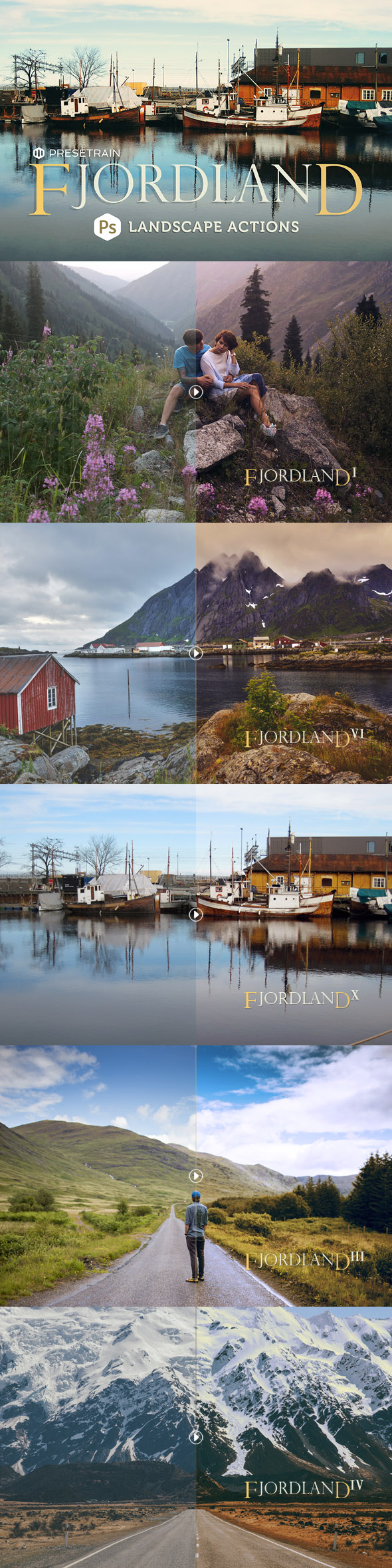 Fjordland Landscape Photoshop Actions - Photo Effects Actions