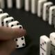 Built Figure of Dominoes Falling in