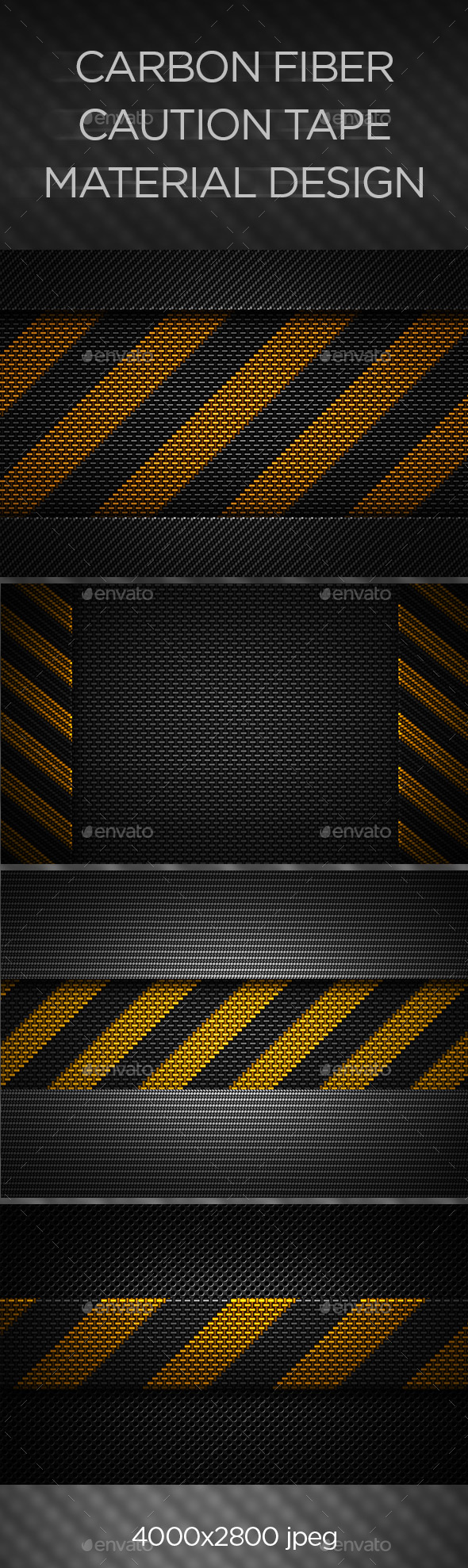 Carbon Fiber Caution Tape Texture - Urban Backgrounds