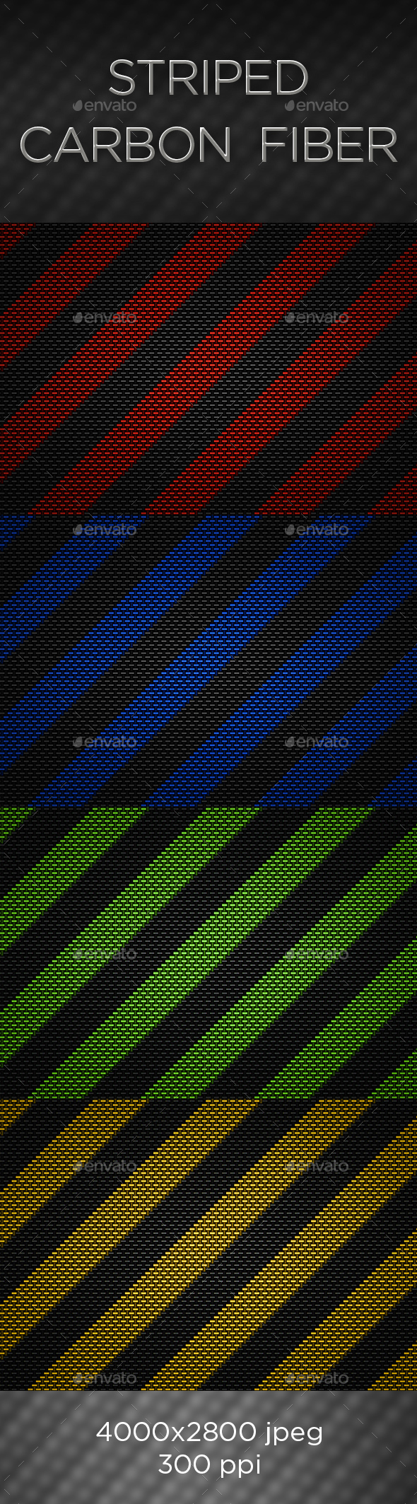 Striped Carbon Fiber Textures - Abstract Backgrounds
