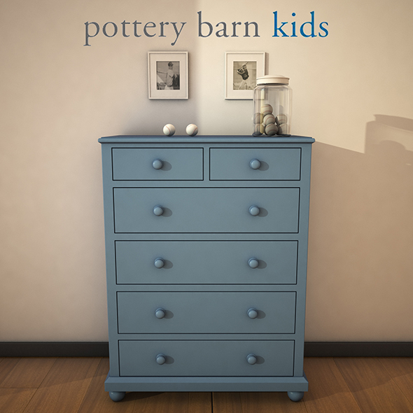 PotteryBarn - CatalinaDrawerChest - 3DOcean Item for Sale