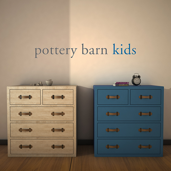 PotteryBarnKids-TuckerDrawerChest - 3DOcean Item for Sale