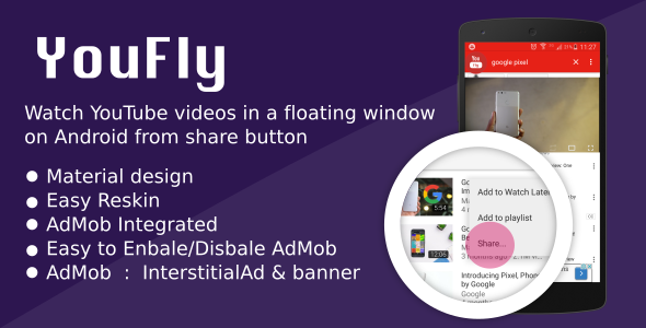 YouFly - watch youtube videos in floating window - CodeCanyon Item for Sale