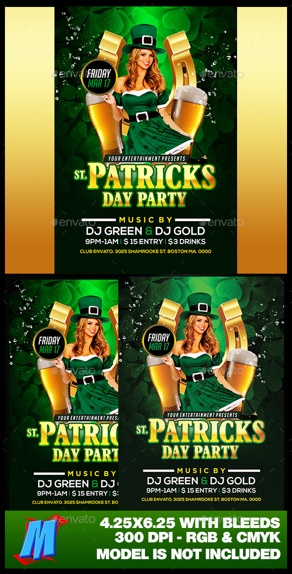 St Patricks Day Party Flyer Template - Clubs & Parties Events