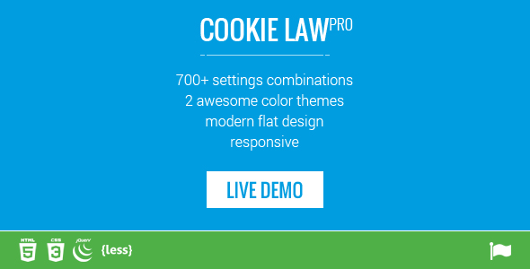 Responsive Cookie Law Consent Notification