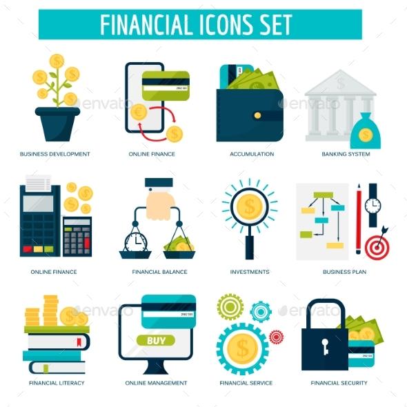 Banking Money Financial Services Set Credit Sign - Backgrounds Decorative
