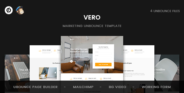 Image of Vero - Marketing Unbounce Template