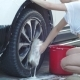 She Washes the Wheel