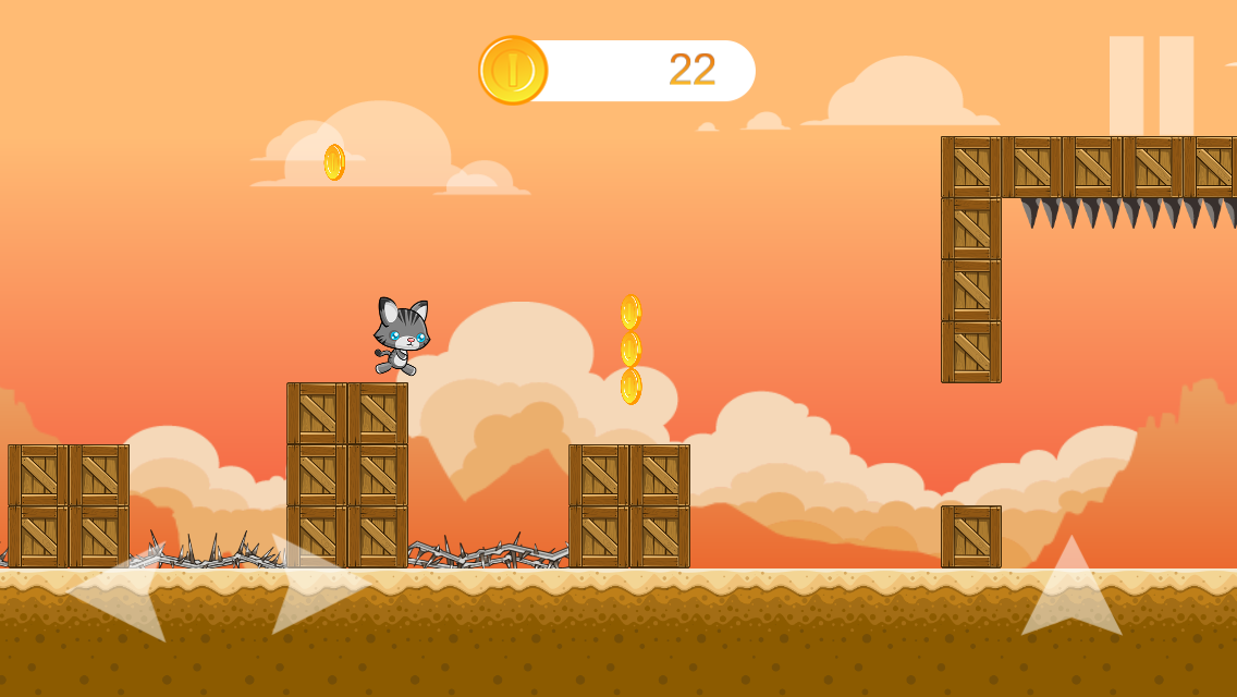 Cat Adventure Android Platformer Game With Admob