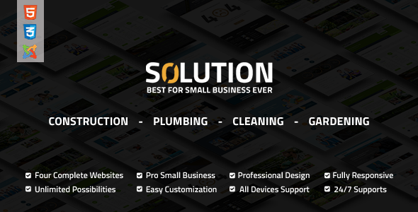 Solution – Multipurpose Small Business Joomla Theme