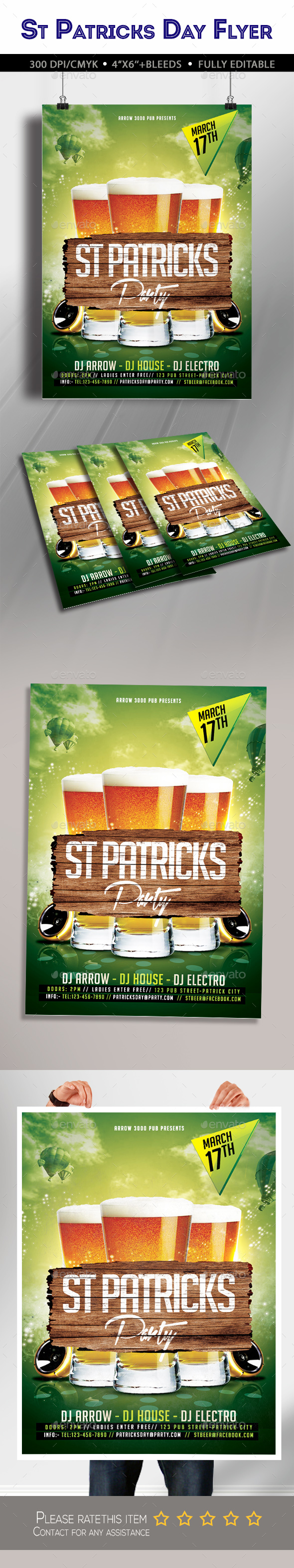 St Patricks Party Flyer - Clubs & Parties Events